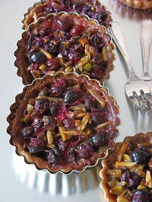 Cranberry Nut Caramel Tarts | PIES | Pinterest