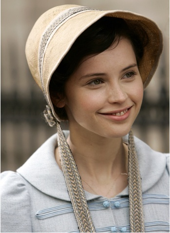 felicity jones as catherine morland in northanger abbey