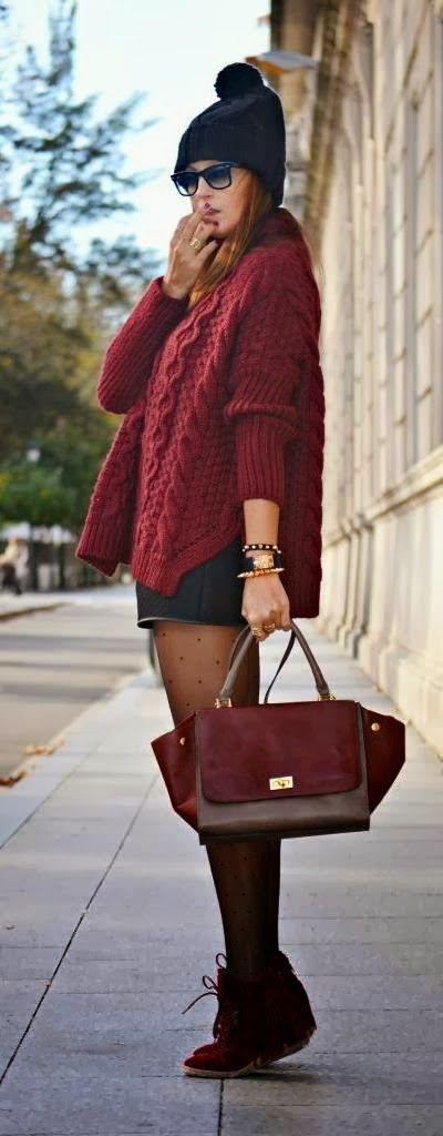 Cute Mini Dress With Knit Sweater