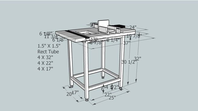 Complete router table plan router table plans pinterest for Table design sketchup