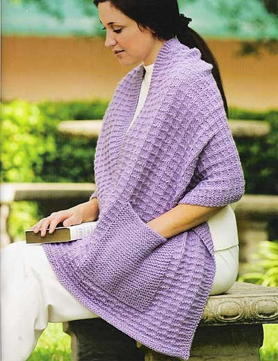 Knitting Pattern For A Shawl With Pockets : prayer shawl with pocket(s) Knit crochet nirvana Pinterest
