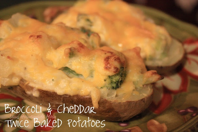 Broccoli & Cheddar Twice Baked Potatoes | Recipes | Pinterest