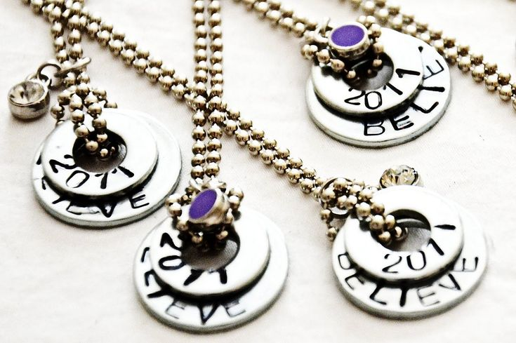 stamped washer necklaces.