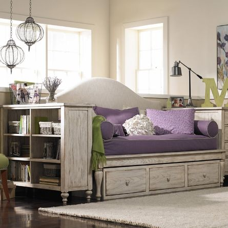 Abby upholstered daybed for the girls rooms pinterest - Daybed for small spaces set ...