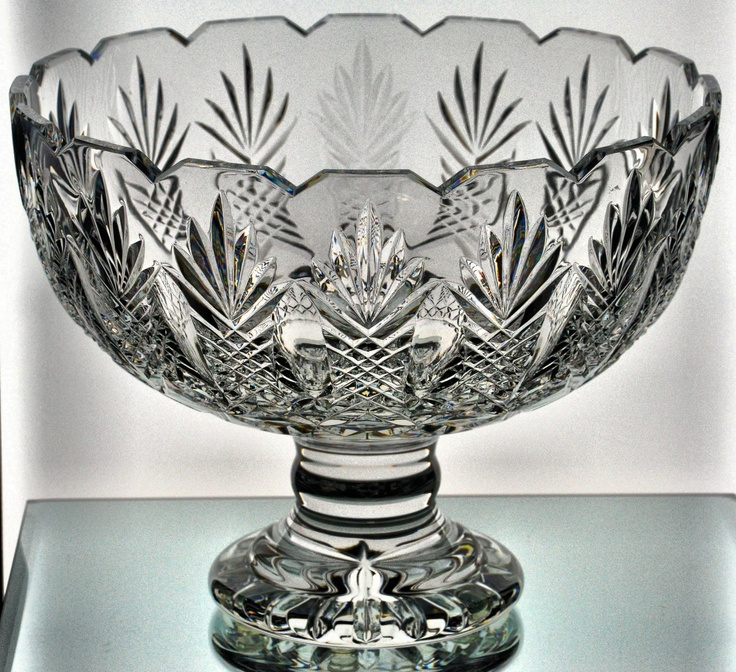 Waterford Crystal Master Cutter Aran Isles Centerpiece Bowl Box COA Palm Trees