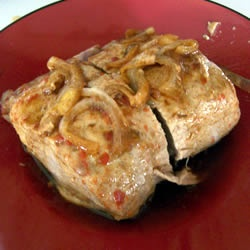 Tangy Slow Cooker Pork Roast Recipe - I also used a dry rub with ...