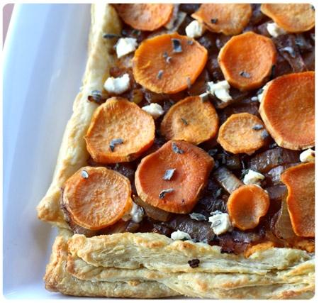Sweet Potato, Onion & Goat Cheese Tart   For A Social Gathering   Pin ...