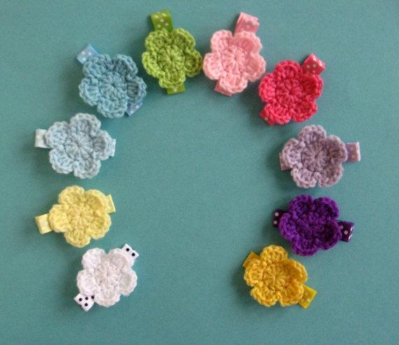 Crochet Hair Clips Jewelry making Pinterest