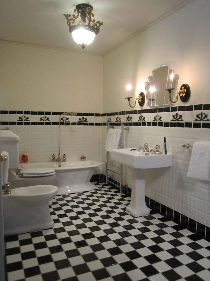 Art Deco Bathroom Dollhouse Miniatures Pinterest