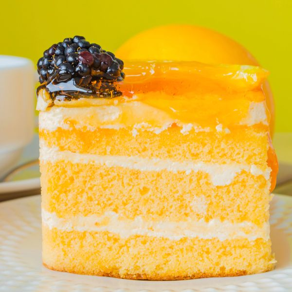 This orange layered cake recipe is a three layer cake filled with ...