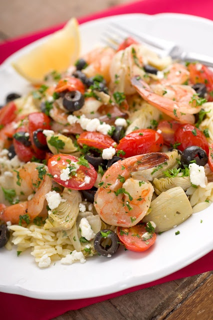 Sugar & Spice by Celeste: Roasted Greek Shrimp with Orzo