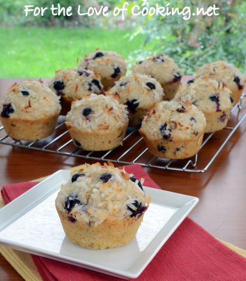 Toasted Coconut Blueberry Muffins | Coconut | Pinterest