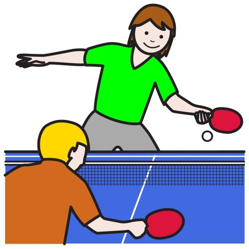 jugar table tennis: