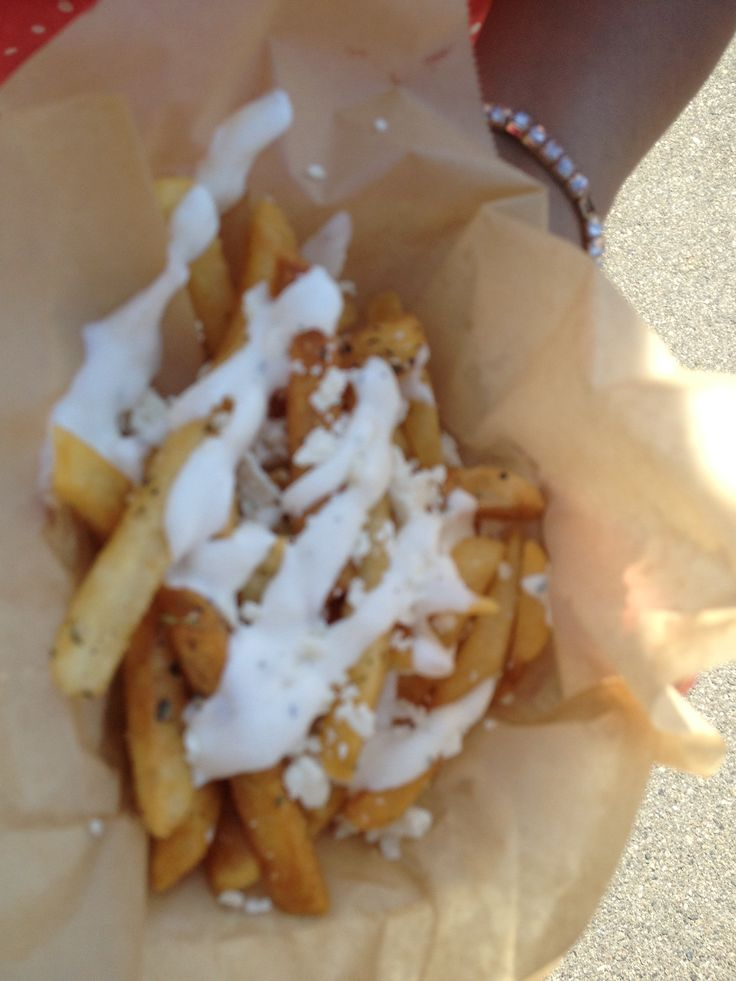 Garlic feta fries | Food Truck Love | Pinterest