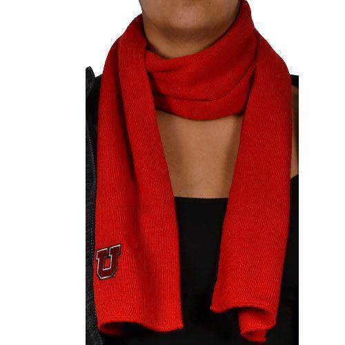 Red #BlockU scarf. #goutes #UniversityofUtah