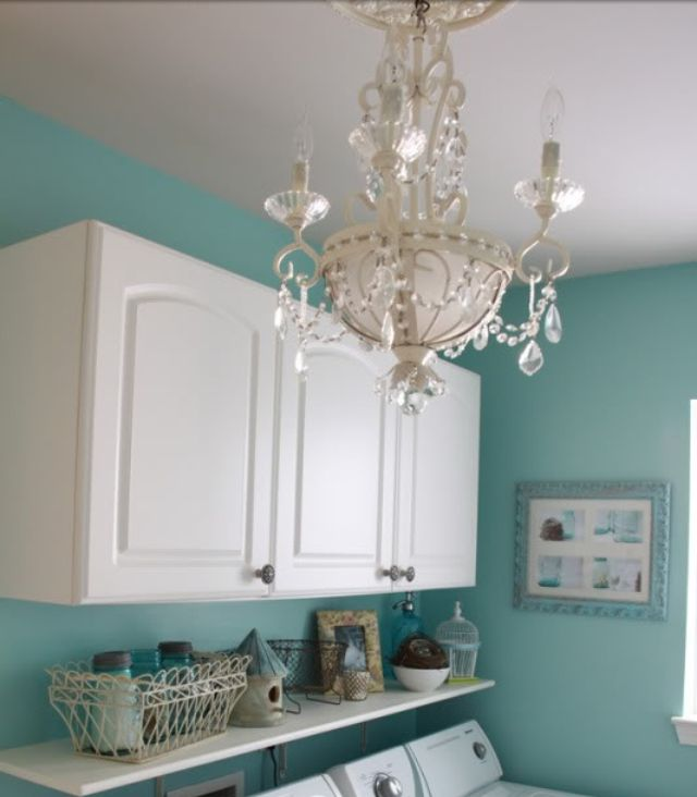 Laundry room chandelier paint color for the home - Paint colors for laundry room ...