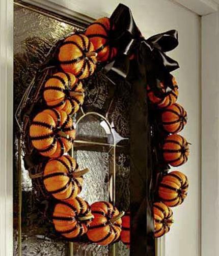 Des décorations dHalloween en orange et noir - Idées design pour ...