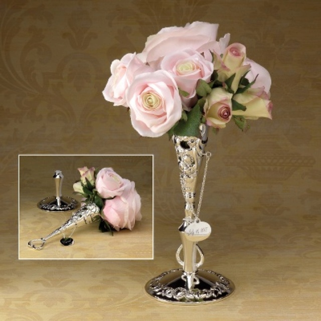 Wedding Bouquet Photo Holder : Tussy mussy bouquet holder flower power