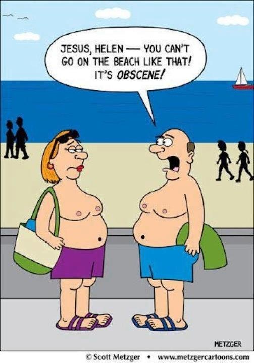 Gender issues... beachwear...