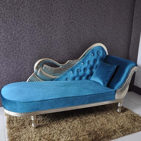 Electric blue chaise lounge casa decor pinterest for Blue chaise lounge