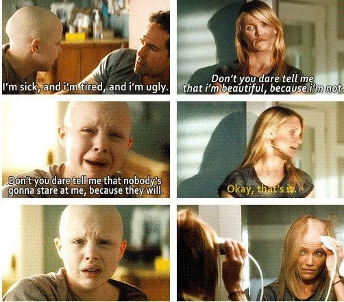 reaction to my sisters keeper movie Adapted from jodi picoult's 2004 novel, my sister's keeper is the story of  in the  opening scenes of the movie, we learn that kate's cancer has.
