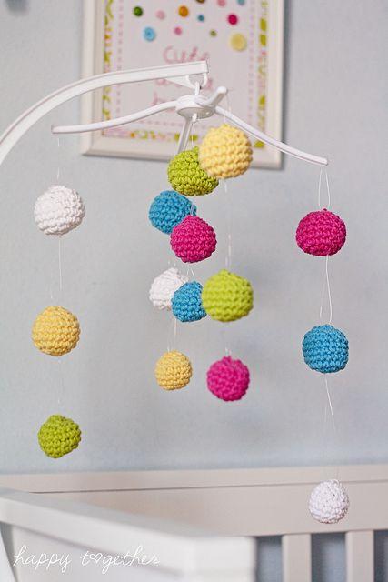 Crochet Baby Mobile Patterns : A crochet ball crib mobile Knitting & Crochet Pinterest
