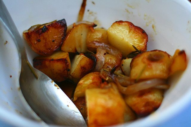 Gluten Free Sweet 'n Spicy Honey Roasted Potatoes - Foodista.com A ...