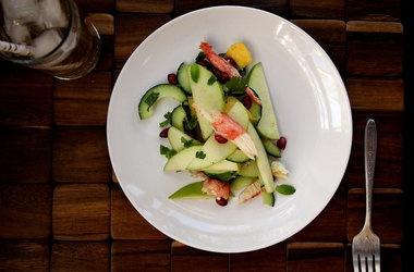 Crab, Apple Pomegranate Salad