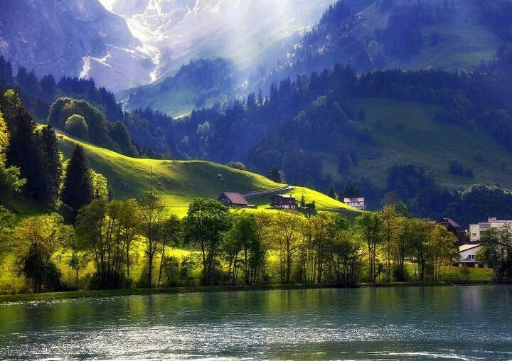 Beautiful Countryside In Switzerland Amazing And Beautiful Places