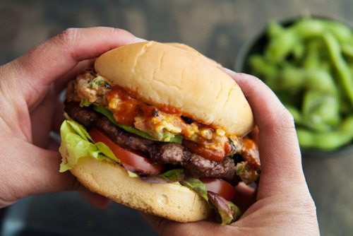 spicy tuna roll burger. | Recipes | Pinterest