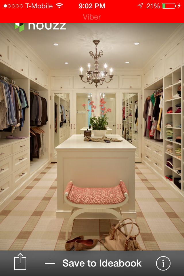 His and hers walk in closet home bedroom pinterest for His and hers closet