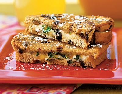 ... sandwich: Grilled goat cheese sandwich with fig and honey #recipe