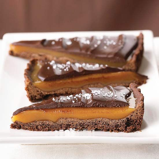 Our Chocolate Caramel Tart is topped with coarse salt for an ...