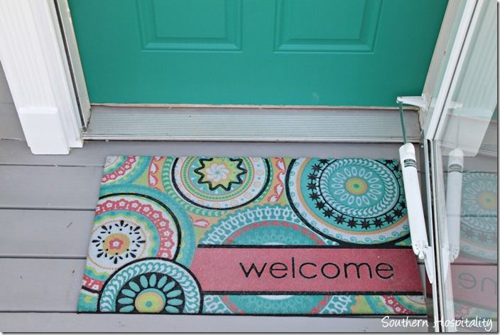Front door and welcome mat all things turquoise pinterest for Welcome home front door mats