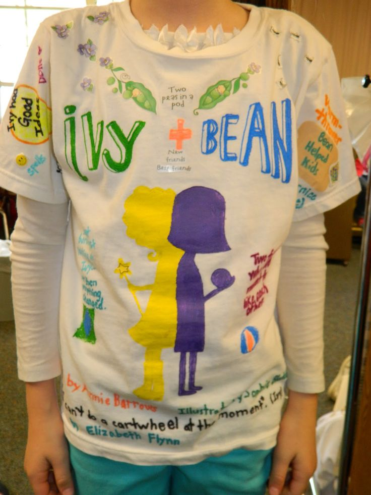 t-shirt book report T-shirt book report projects: students will enjoy designing t-shirts based on their favorite books this girl designed her t-shirt for the book the boy on cinnamon street by phoebe stone.