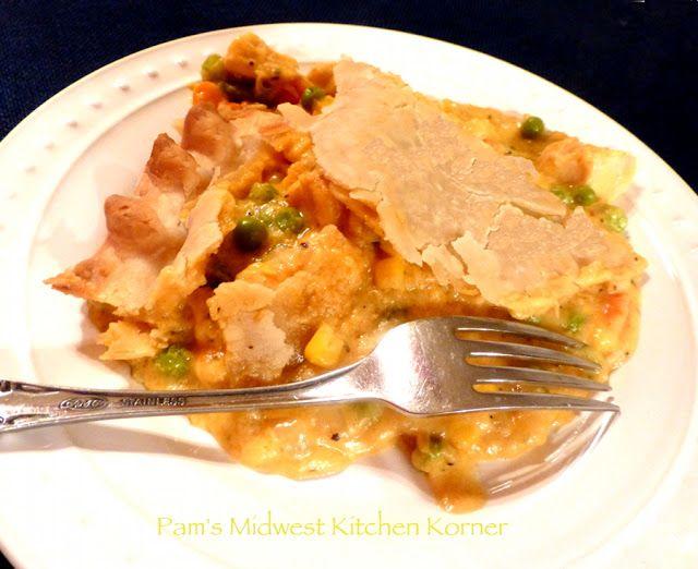Double-crust Chicken Pot Pie | Pam's Midwest Kitchen Korner | Pintere ...