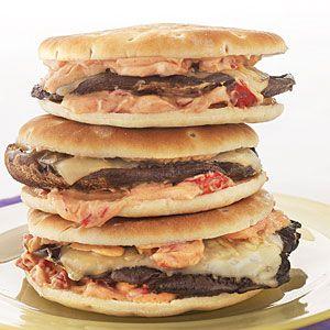 ... as well. Portobello Melts with Smoky Red Pepper Mayo | MyRecipes.com