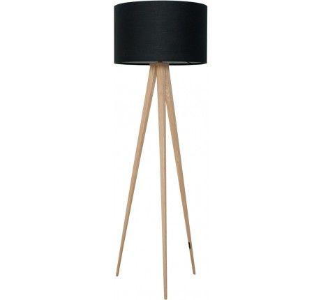 Zuiver staande lamp Tripod zwart/hout  •Inspiration •Interior ...
