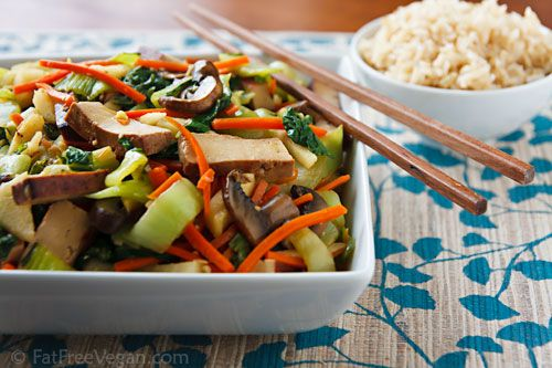 Bok Choy and Baked Tofu Stir-Fry in Ginger-Citrus Sauce | Recipe