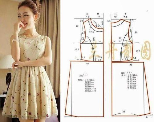 Модные платья с шитьем