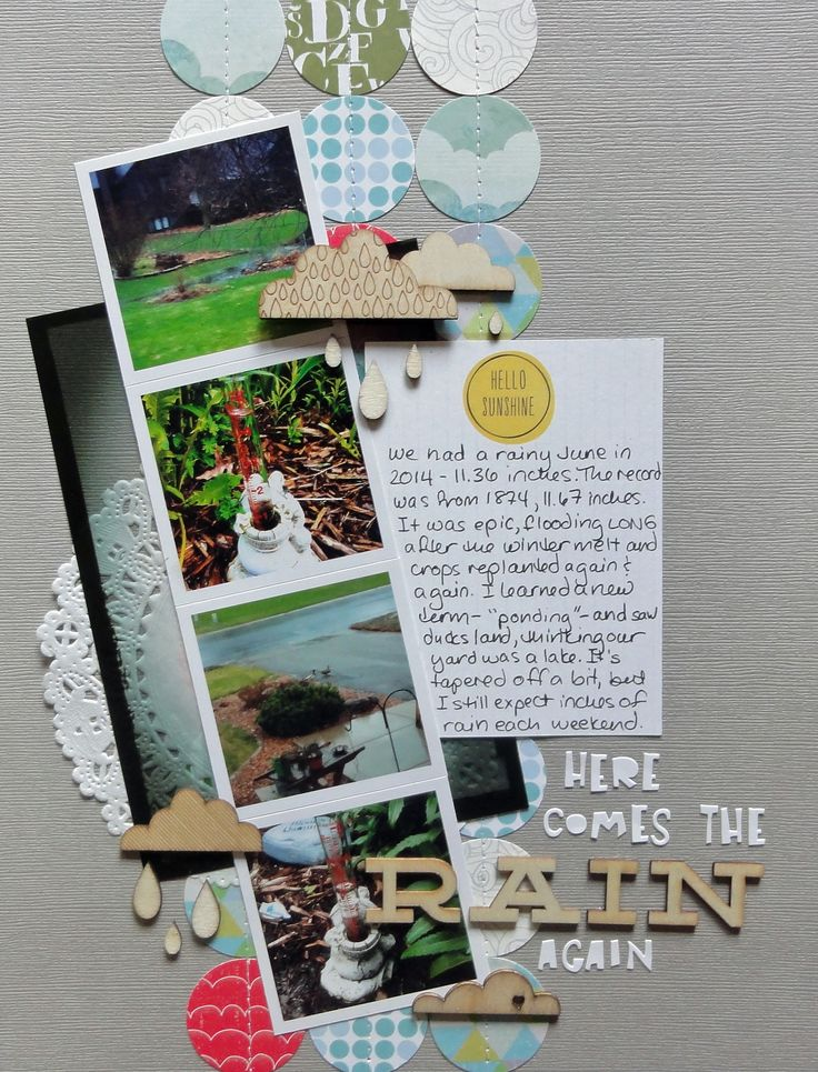 Scrapbook Layout by Jennifer Larson