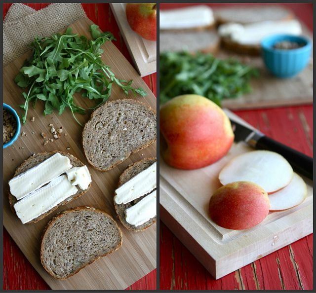 Grilled Cheese Sandwich Recipe with Brie, Pear & Hazelnuts   Recipe