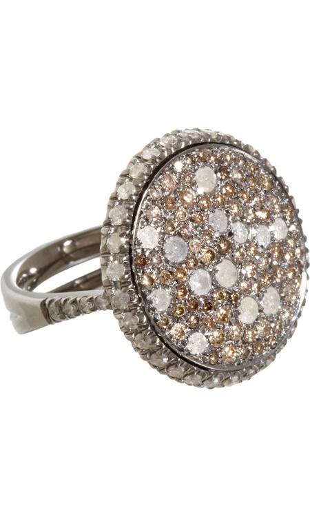 Roberto Marroni Brown & Ice Diamond Sand Ring