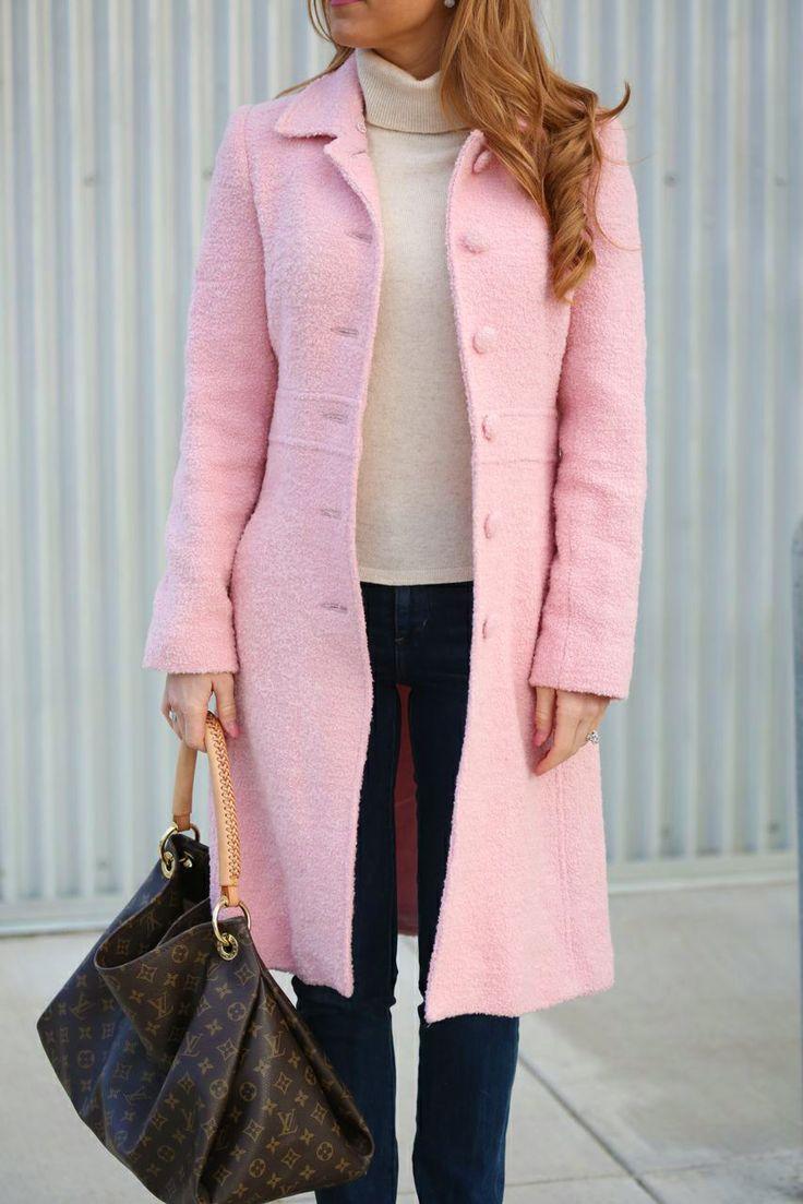 Pink wool coat dress for success pinterest