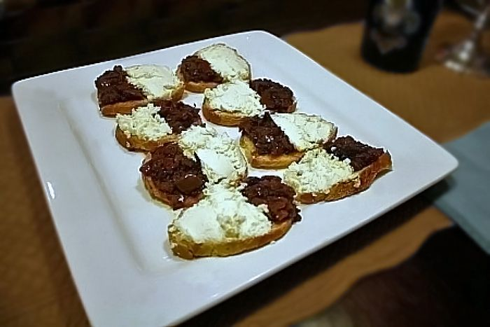 Goat Cheese & Olive Tapenade Crostini - the perfect appetizer!