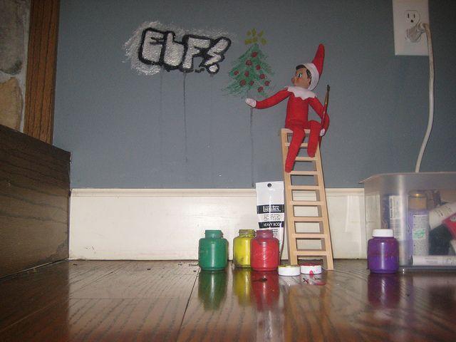 Elf on shelf - naughty!