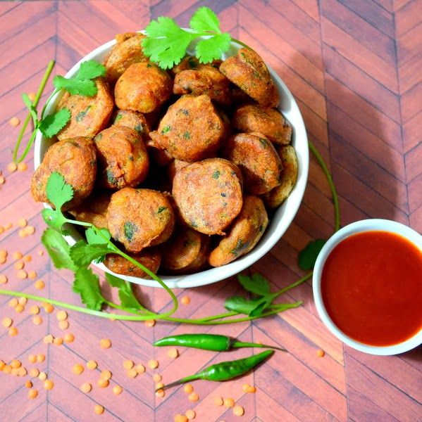 Happily Spiced: Red Lentil Fritters | Vegan Yummies | Pinterest