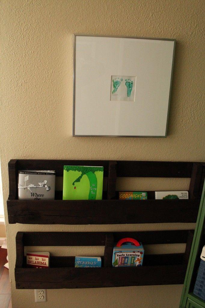 #DIY Pallet Bookshelves