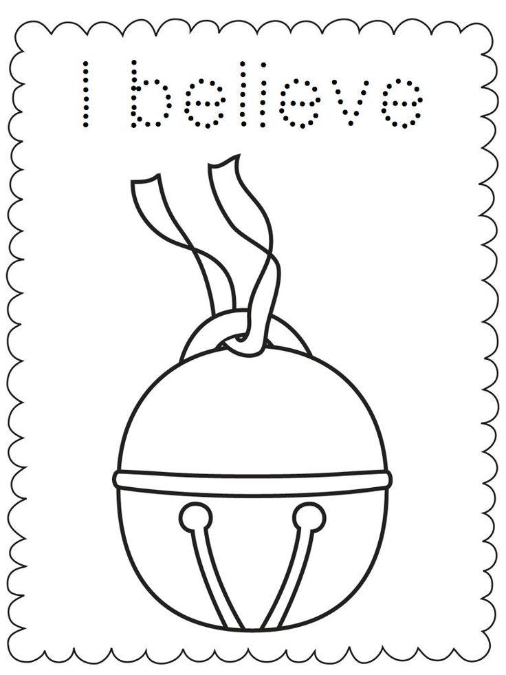 "Free Polar Express printable coloring sheet. ""I believe!"" # ..."