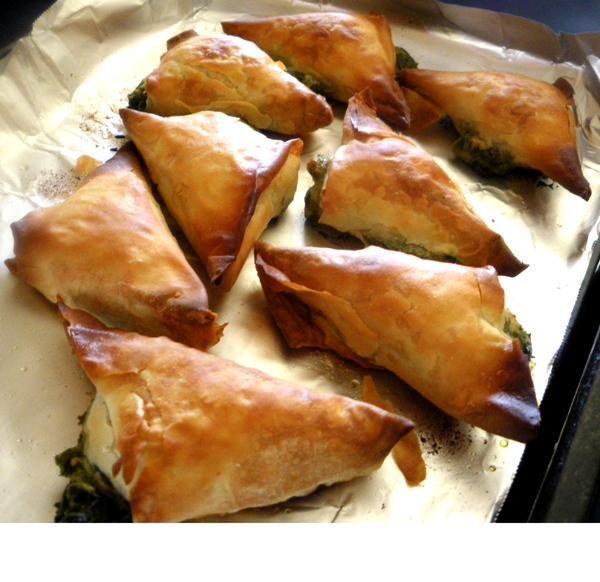 Mini Spanakopita (Greek Spinach Pies)   Recipe